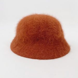 David & Young VTG Rust Orange Angora Bucket Hat